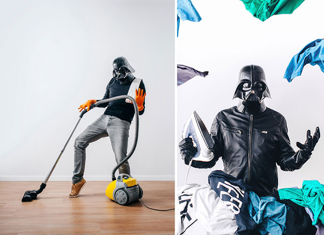 Darth Vader почиства.
