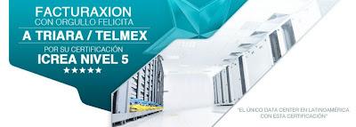 FACTURAXION FELICITA A NUESTRO CENTRO DE DATOS TRIARA/TELMEX