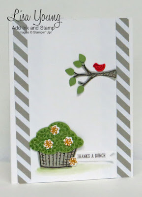 Stampin' Up! Sprinkles of Life stamp set. Uses coordinating punch. Handmade card by Lisa Young, Add Ink and Stamp