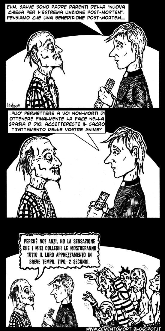 Un prete s'offre di benedire gli zombie