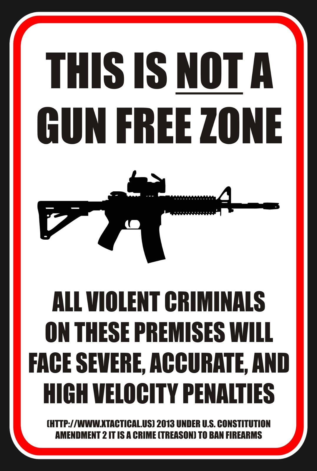 NOT a Gun Free Zone Sign a return to liberty gun control,Gun Free Zone Meme
