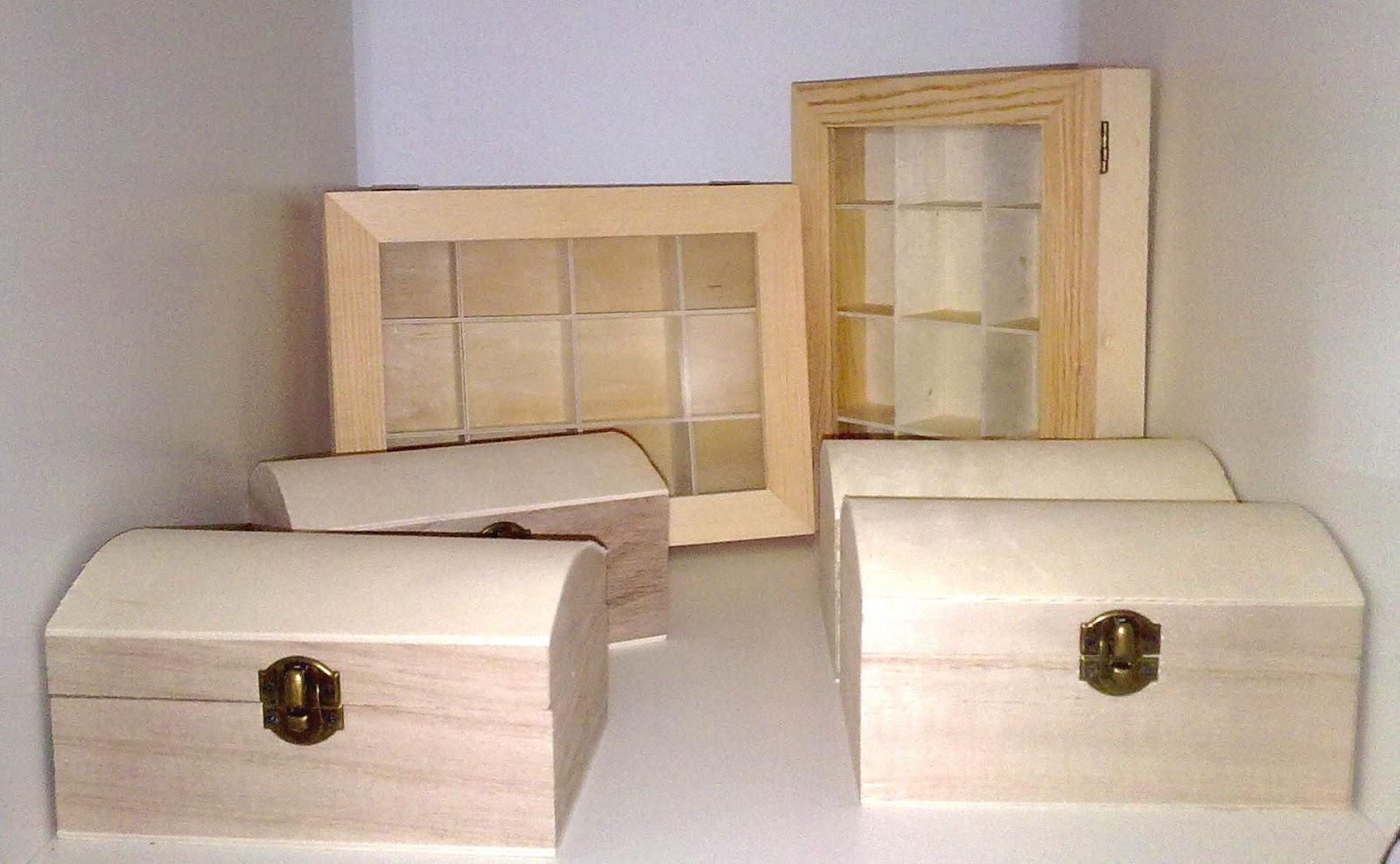 Parafernalias moda y abalorios nuevas piezas y materiales - Manualidades decorar cajas de madera ...