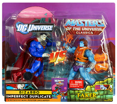 San Diego Comic-Con 2011 Exclusive DC Universe vs Masters of the Universe 2 Pack: Bizarro & Faker Action Figures