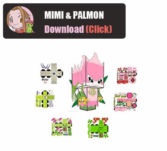 digimon master online papercraft mimi and palmon digimon