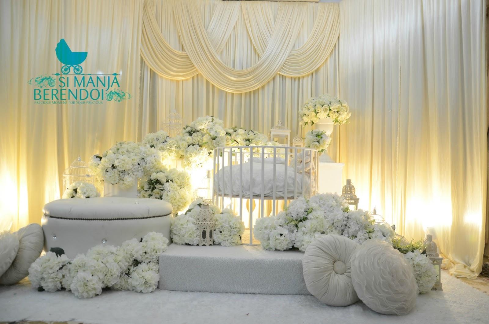 Gambar mini pelamin pelamin aqiqah white garden for Idea doorgift untuk aqiqah