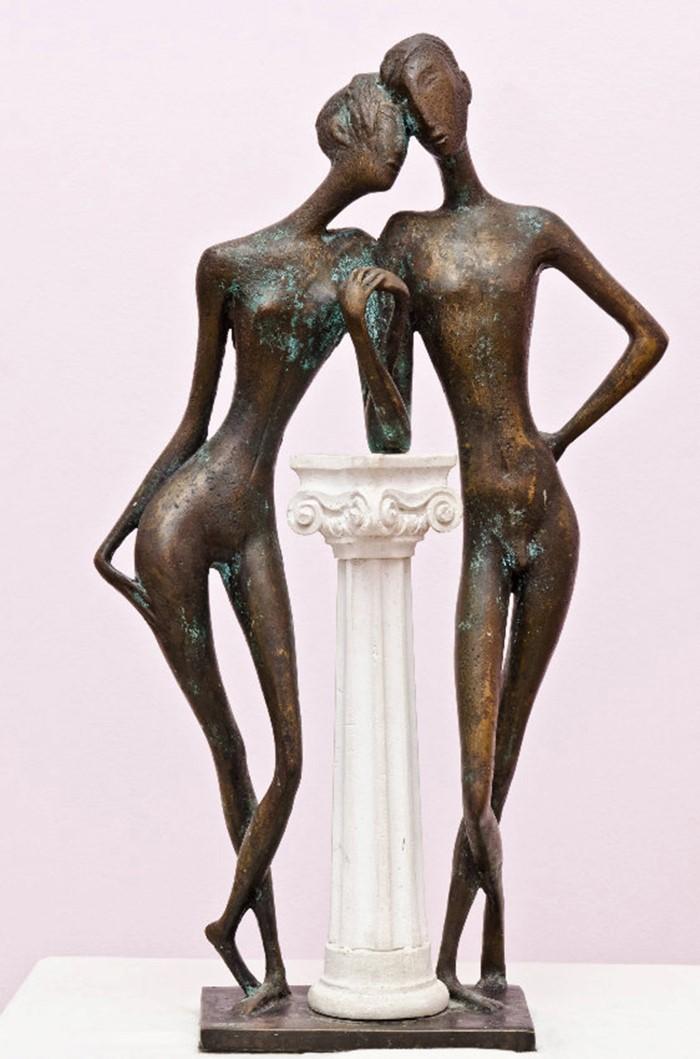 Tenderness 2002 year.bronze 62x35x15cm.12000 $