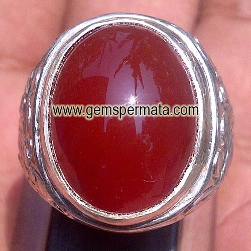 Batu Permata Red Baron Keladen Chalcedony