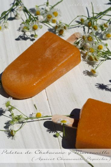 Paletas de Chabacano y Manzanilla (Apricot Chamomile Popsicles)