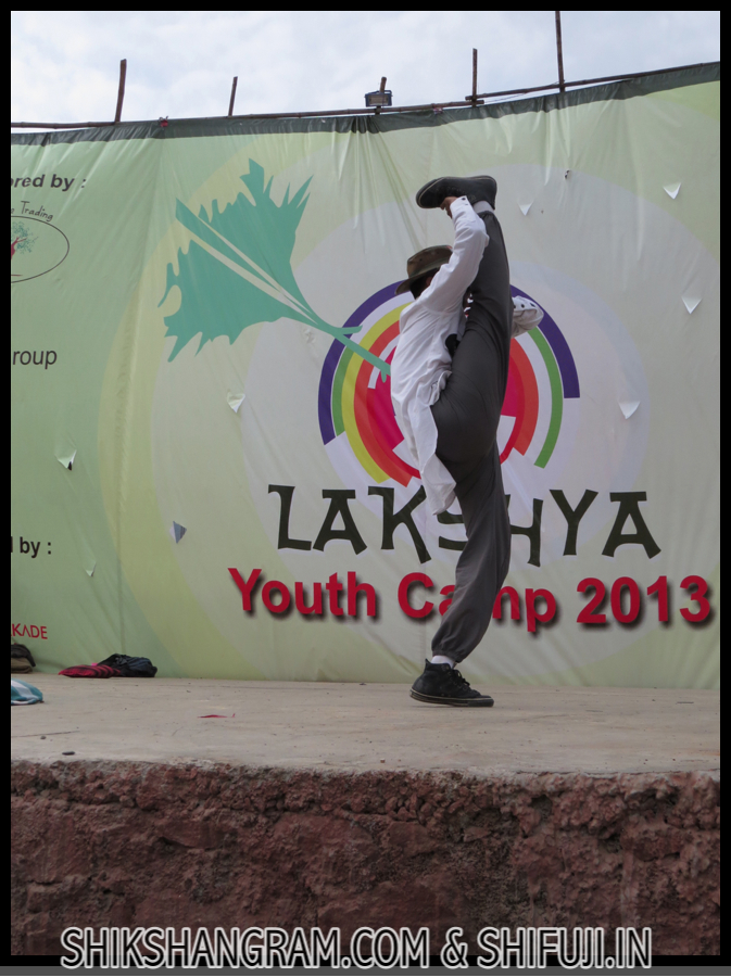 Shikshan Gram Shifuji's Fusion Kung-fu in Lakshya Youth camp 2013
