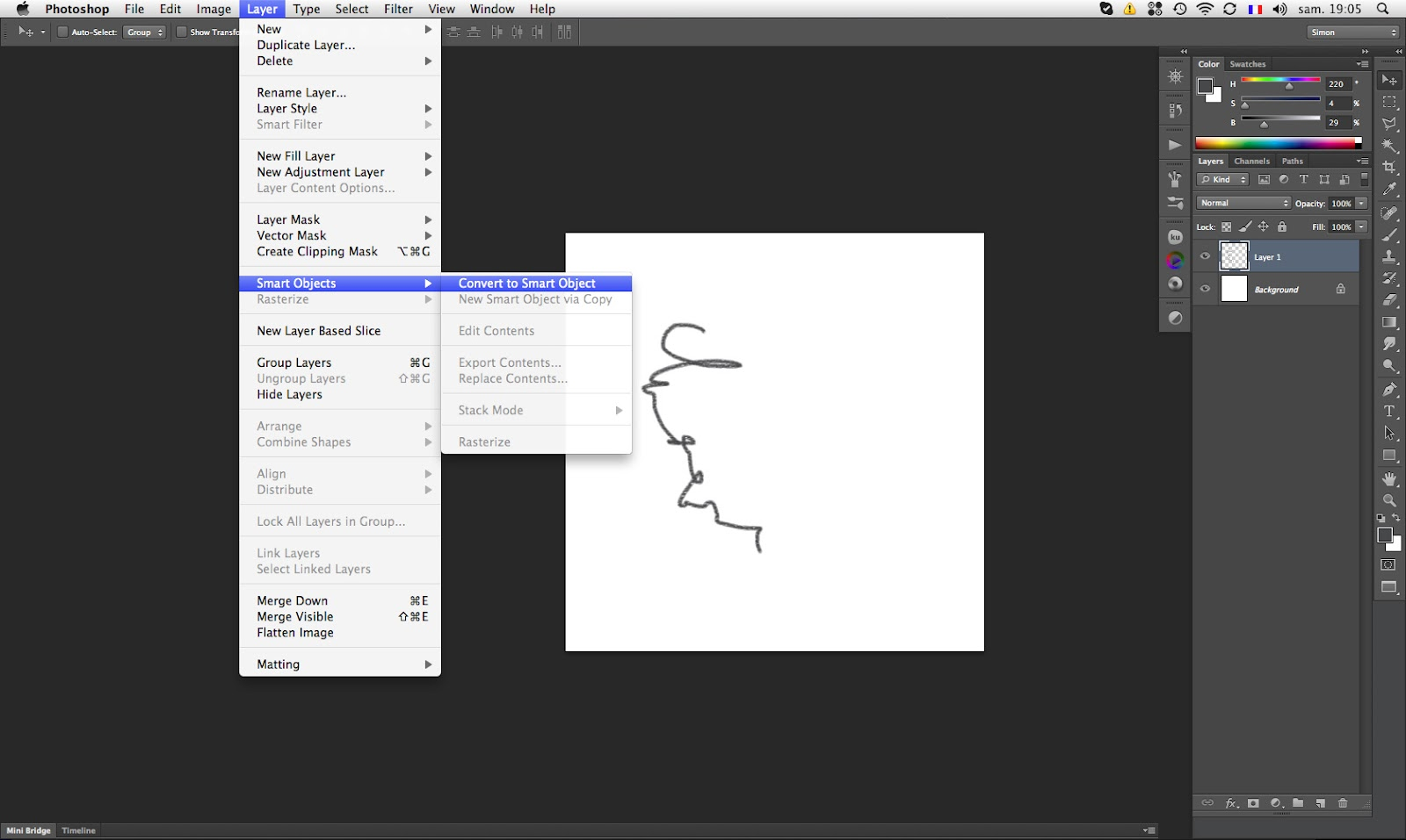 how to create a smart layer in photoshop