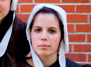 ... local amish woman caused quite a stir this week in her amish community