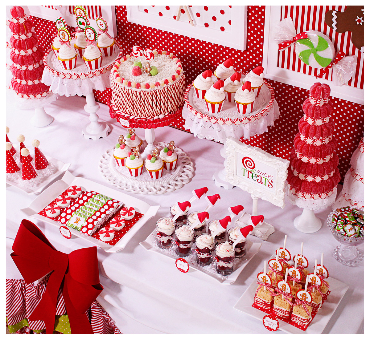 Amanda 39 S Parties To Go Candy Christmas Dessert Table