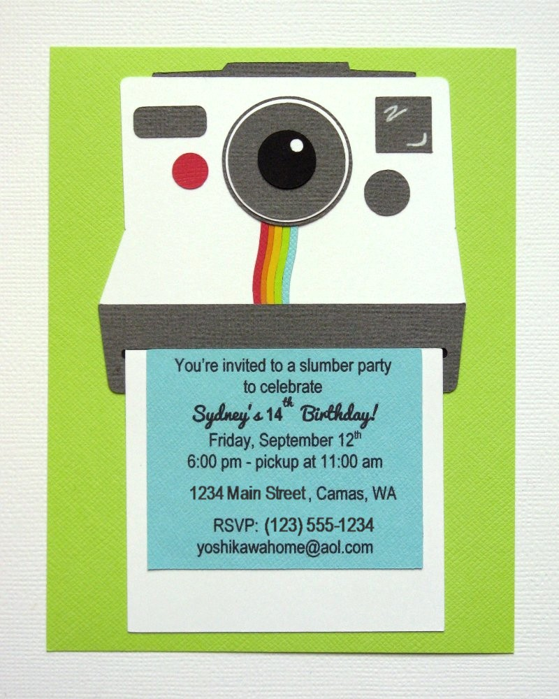 Snippets by mendi a teen instagram polaroid camera themed polaroid camera themed birthday invitation for instagram themed party by mendi yoshikawa filmwisefo