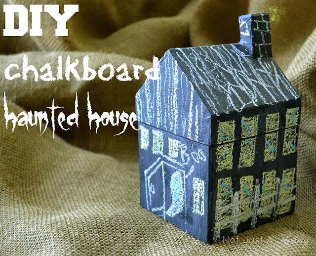 Tuesday Tutorial - DIY Chalkboard Haunted House | Not Just A Mommy