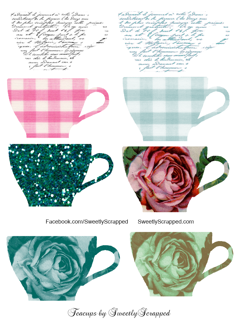 Mesmerizing image within teacup printable