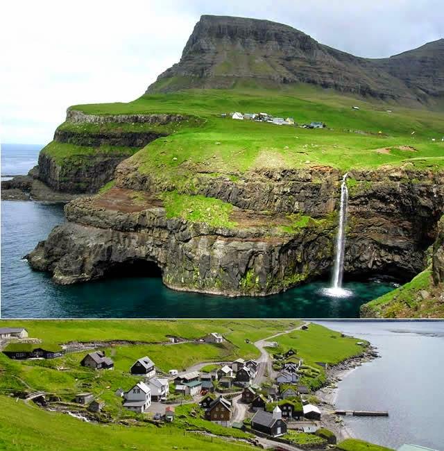 Gásadalur, Vagar, Ilhas Faroé - Faroe Islands