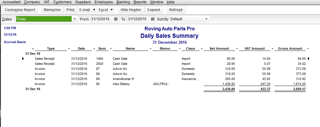 ... daily sales report shows your business sales transactions on a daily