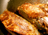 pan fried mackerel in creamy sauce