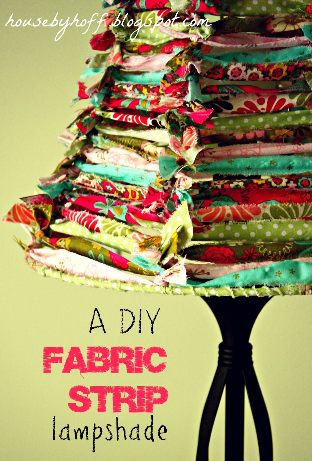 A fabric scrap lampshade its 30 thursday house by hoff how to make a fabric strip lampshade via housebyhoff aloadofball Choice Image