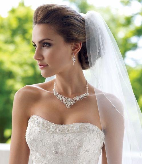 peinados de famosas para novias el dia de su boda pelo  - Peinados De Novia Pelo Suelto Con Velo
