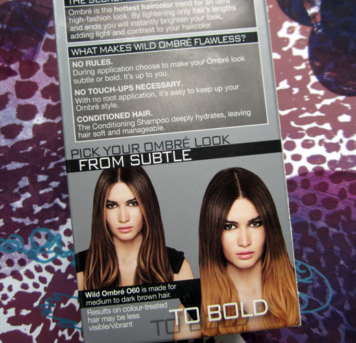 Easy at-home ombre hair using the L'Oreal Paris Feria Wild Ombre kit