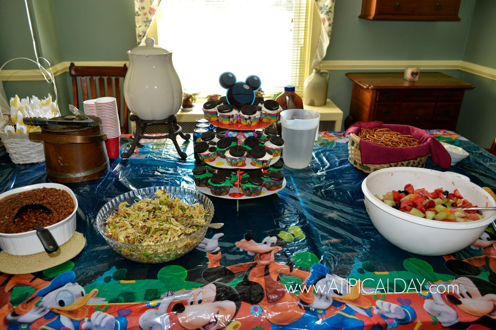 Mickey mouse party on a budget a tipical day on the menu at the mickey mouse party aloadofball Choice Image