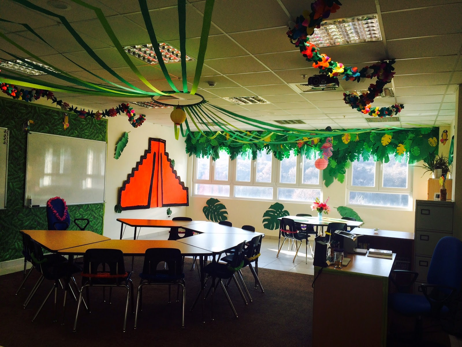 Classroom Decoration Jungle Theme ~ The charming classroom island jungle theme