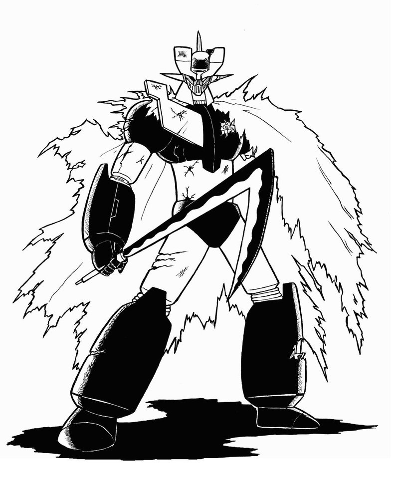 mazinger z coloring pages - photo#30