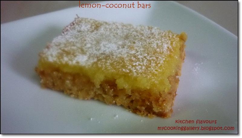 kitchen flavours: Lemon-Coconut Bars
