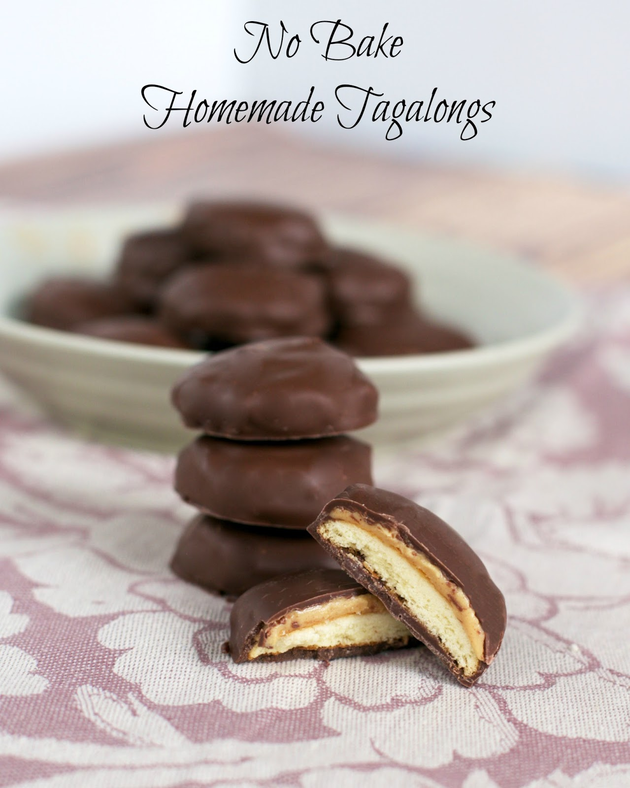No Bake Homemade Tagalongs {Peanut Butter Patties} - tastes just like the real thing without turning on the oven!