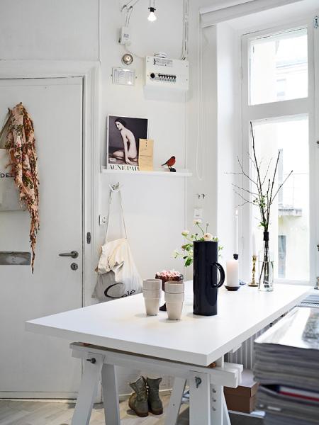 Un estudio n rdico de 31m2 la garbatella blog de - Ideas para decorar un estudio ...