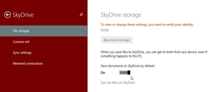 Tự động lưu files từ skydriver trên windows 8.1