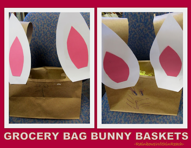 photo of: Grocery Bag Bunny Baskets via RainbowsWithinReach