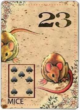 carta de lenormand 23 ratones