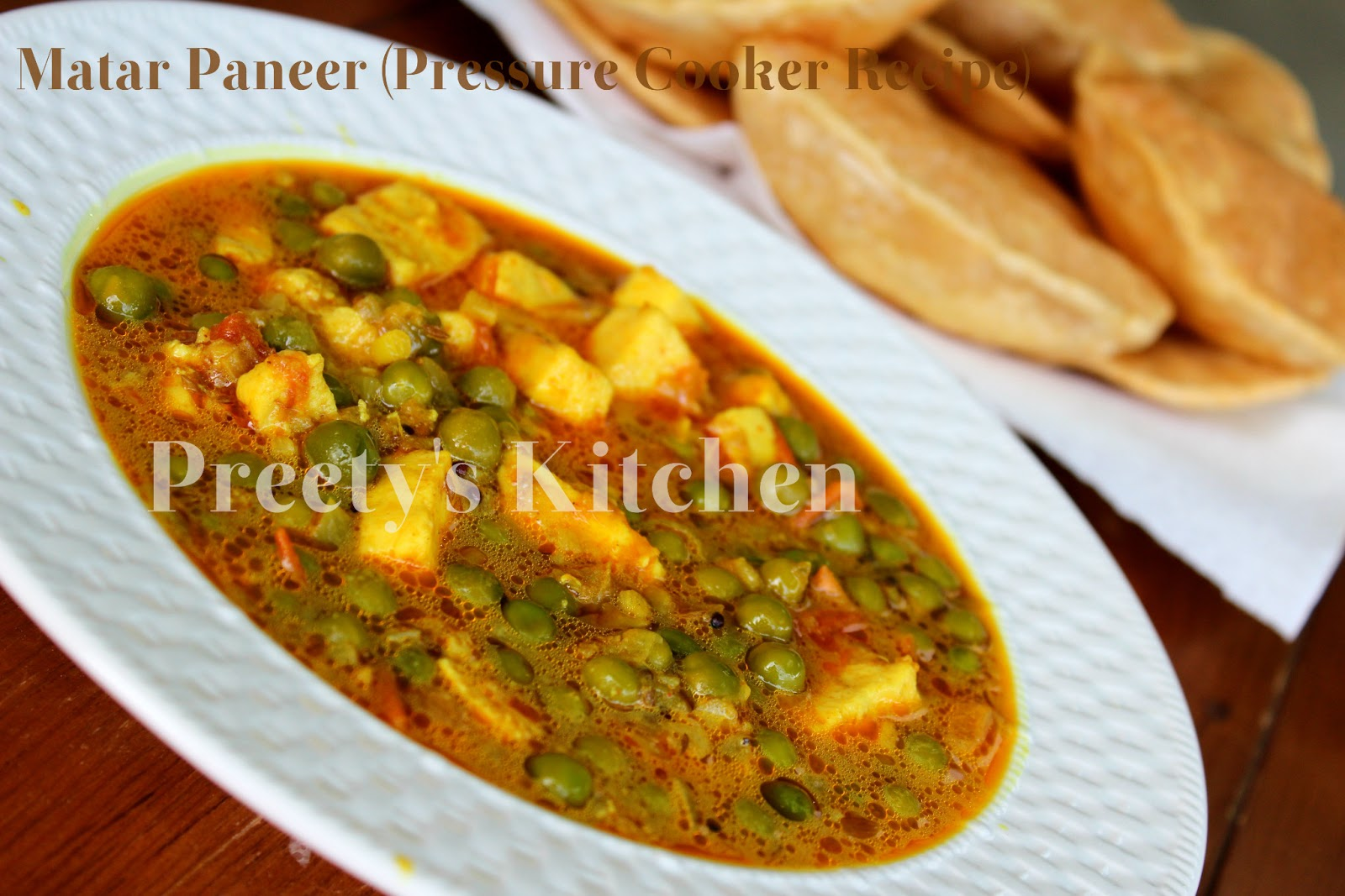 Preetys kitchen matar paneer indian cottage cheese peas curry matar paneer indian cottage cheese peas curry pressure cooker recipe forumfinder Choice Image
