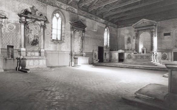 The interior of Santa Maria della Misericrodia, Venice