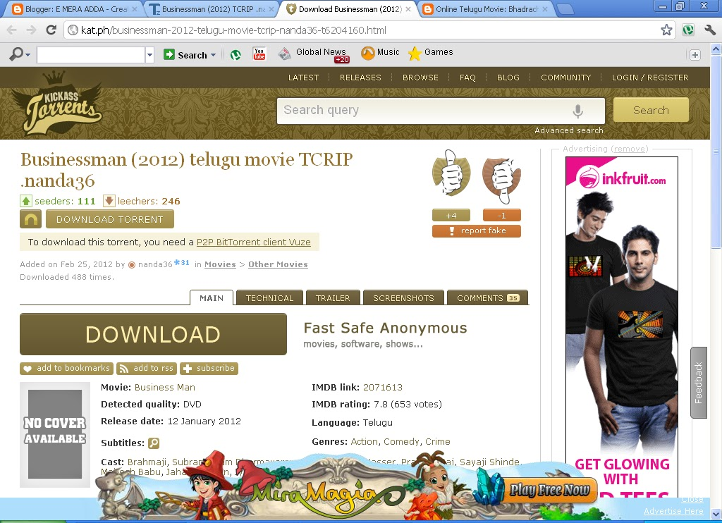 utorrent search telugu movies