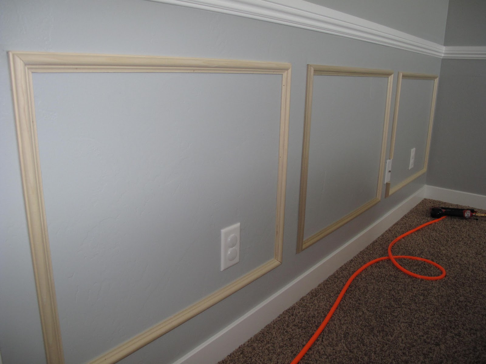 fake wainscoting... I can do this even with textured walls!! | Our ...