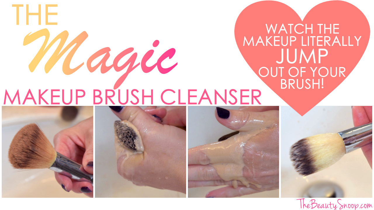 magic makeup brush cleanser, makeup brush cleaning techniques, hot to clean makeup brushes, makeup brush cleaner DIY