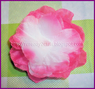 luau flower petal dollar store hair bow craft