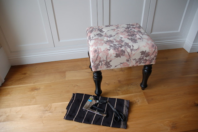Reupholster a stool the Lazy Way