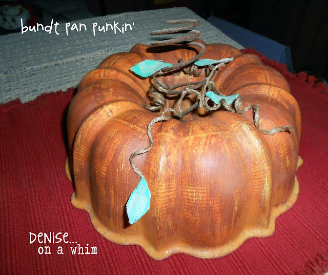 bundt pan pumpkin  by denise..on a whim