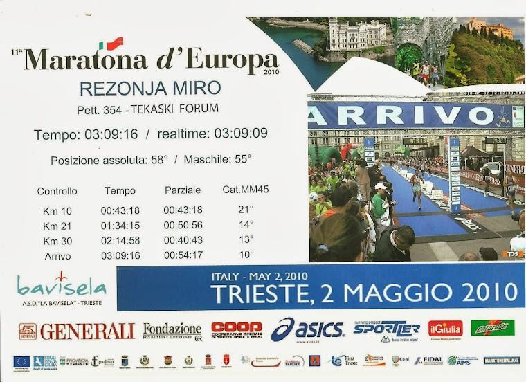 Maraton Trst  -  2010