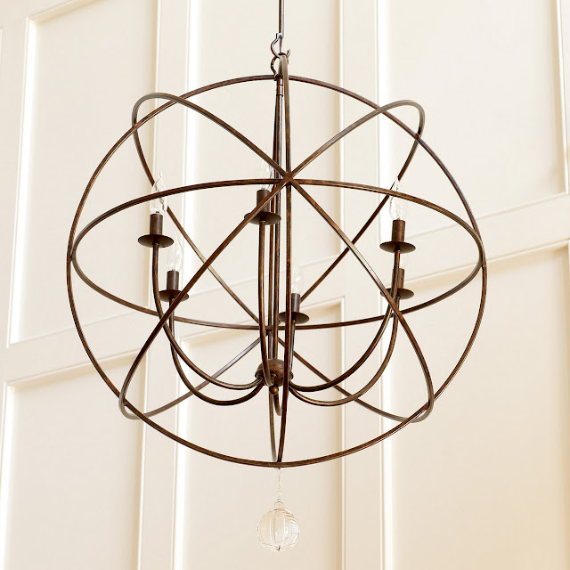 copy cat chic restoration hardware foucault s iron orb ballard designs petite orb chandelier my bedroom