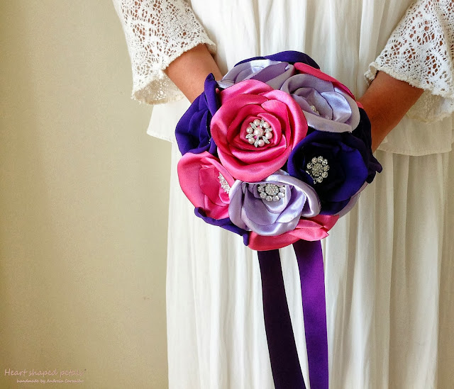 royal purple bridal bouquet