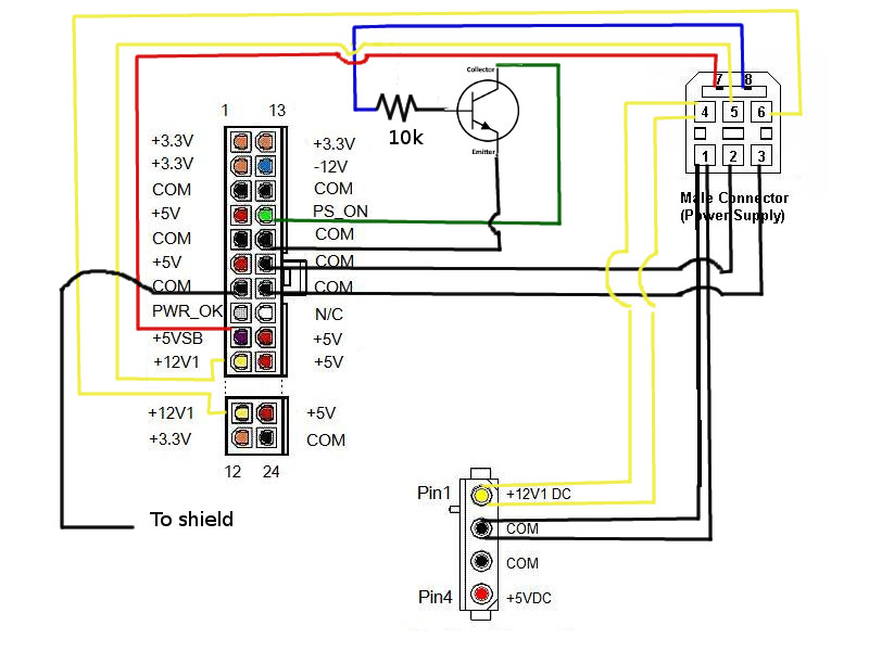 schematic how to power an xbox360 with an atx power supply xbox360 xbox 360 wiring diagram at bayanpartner.co