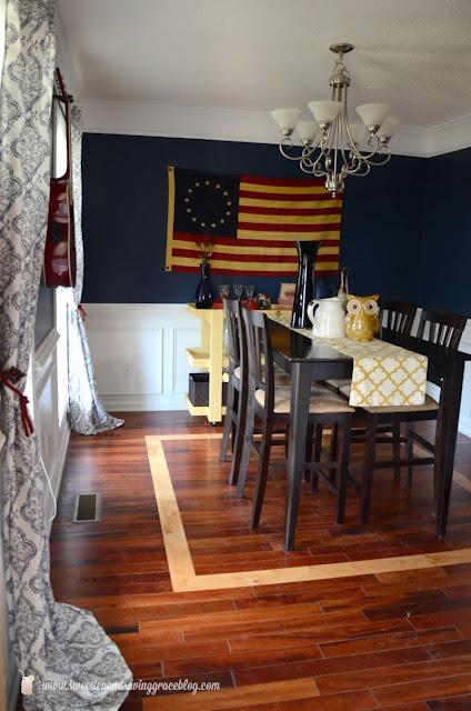 modern Americana dining room