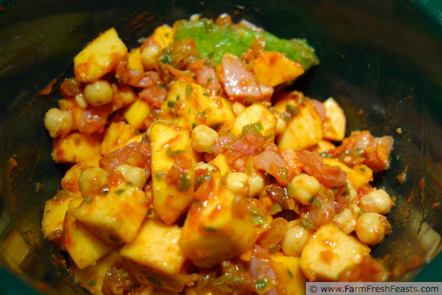 http://www.farmfreshfeasts.com/2013/02/acorn-squash-chick-pea-and-chicken-faux.html