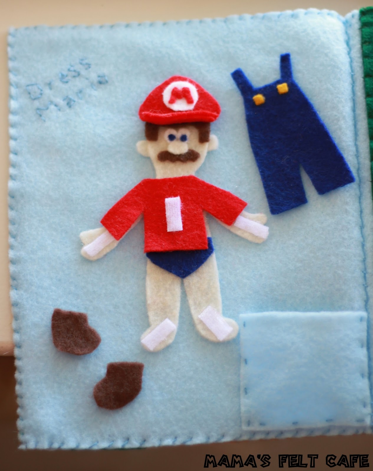 mama u0027s felt cafe super mario quiet book