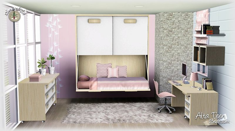 My Sims 3 Blog: Alta Teen Bedroom Set by Simcredible Designs